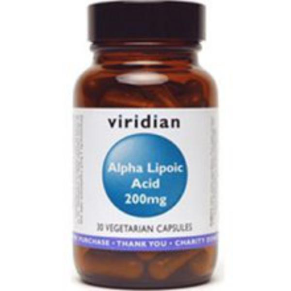 Alpha Lipoic Acid Antioxidants 200mg Vegan