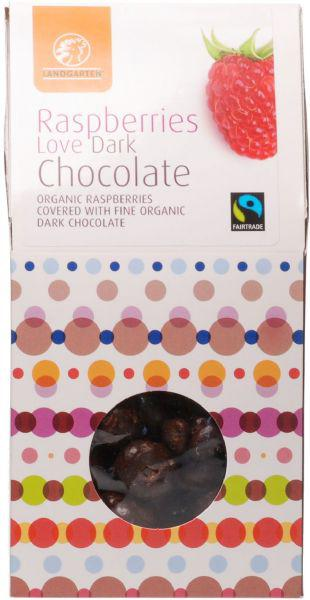 Dark Chocolate Coated Raspberries Gluten Free, FairTrade, ORGANIC