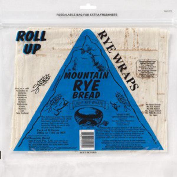 Rye Wraps yeast free