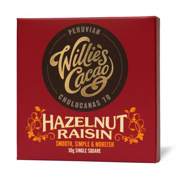 Hazelnut & Raisin Dark Chocolate Peruvian 70 Vegan
