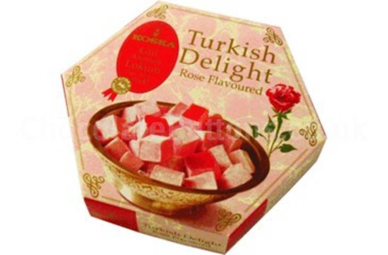 Fairtrade rose turkish delight in 250g from koska for Divan rose turkish delight