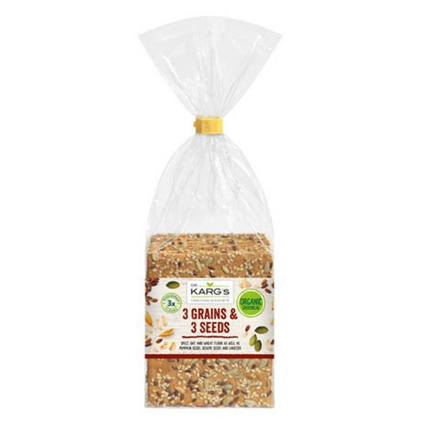 3 Seed & 3 grain Wholegrain Crispbreads ORGANIC