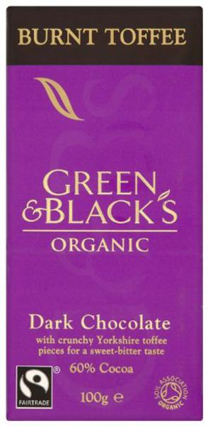 Burnt Toffee Dark Chocolate FairTrade, ORGANIC