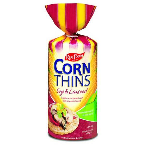Soy & Linseed Corn Thins No Gluten Containing Ingredients, GMO free