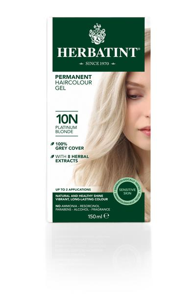 Platinum Blonde Hair Dye 10n In 130ml From Herbatint