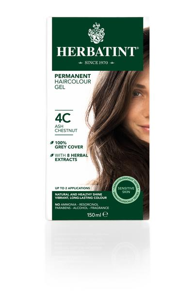 Ash Chestnut Hair Dye 4C Vegan