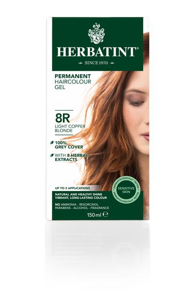 Light Copper Blonde Hair Dye 8R Vegan