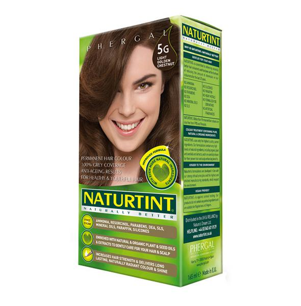 Permanent Hair Colourant Light Golden Chestnut 5G Vegan
