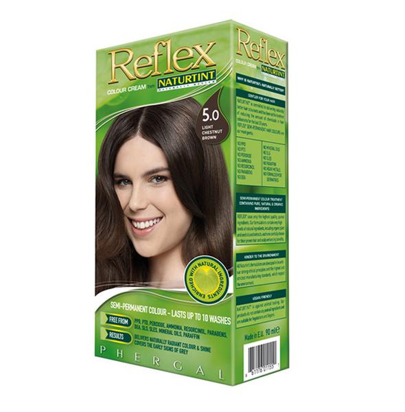 Non Permanent Reflex Hair Colourant Light Chestnut Brown 5.0 Vegan