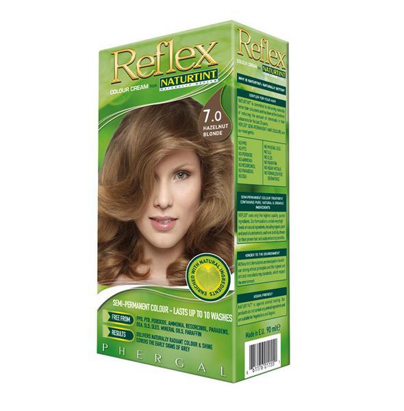 Reflex Semi Permanent Hair Colourant Hazelnut Blonde 7.0 Vegan