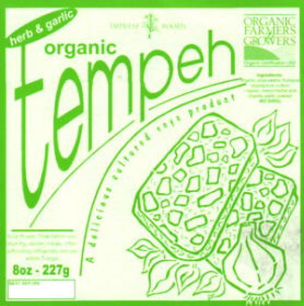 Garlic & Herb Tempeh GMO free, ORGANIC