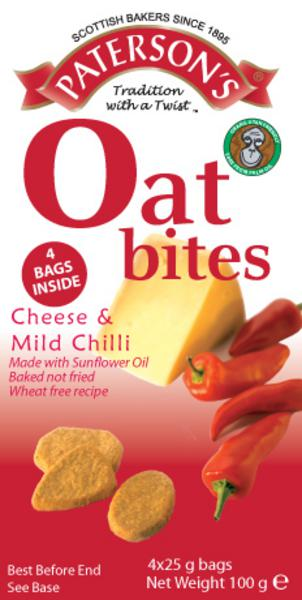 Cheese & Mild Chilli Oatcakes Bites wheat free