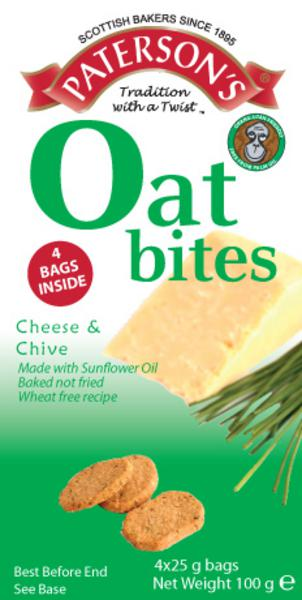 Cheese & Chive Oatcakes Bites wheat free