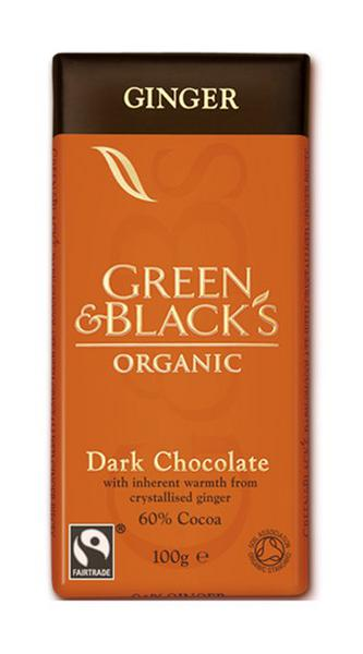 Ginger Dark Chocolate FairTrade, ORGANIC