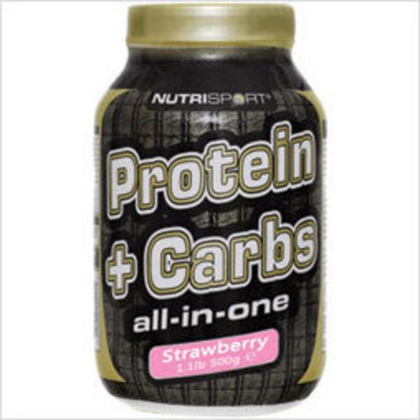Protein + Carbs Protein Supplement Strawberry