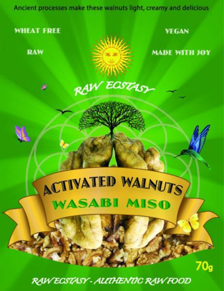 Activated Walnuts Miso Wasabi Coated