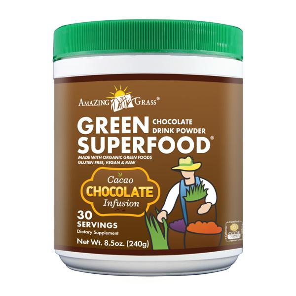 Chocolate Green Superfood Supplement Powder ORGANIC