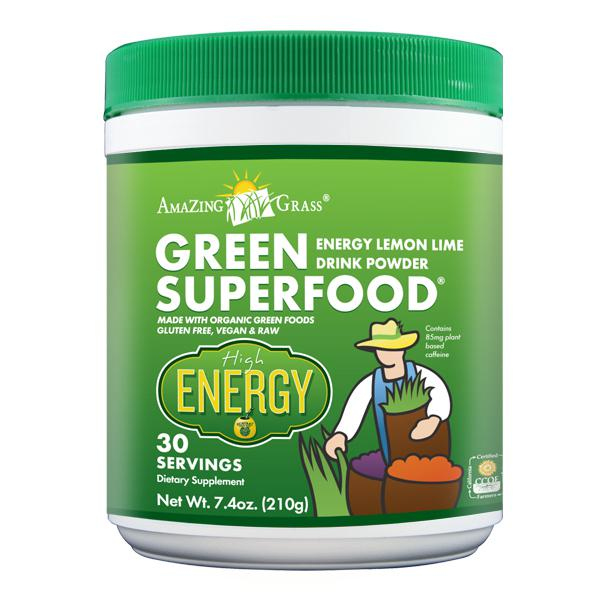 Green Superfood Organic Lemon And Lime Energy Green