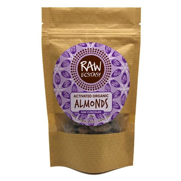 Activated Almonds Raw Chocolate Coated