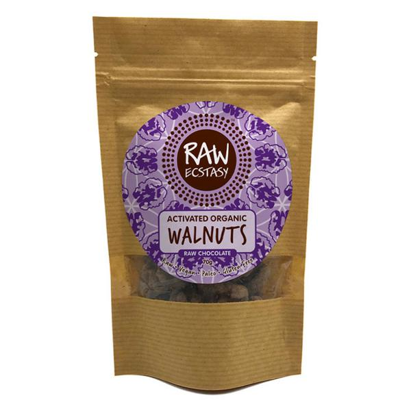 Activated Walnuts Raw Chocolate Coated