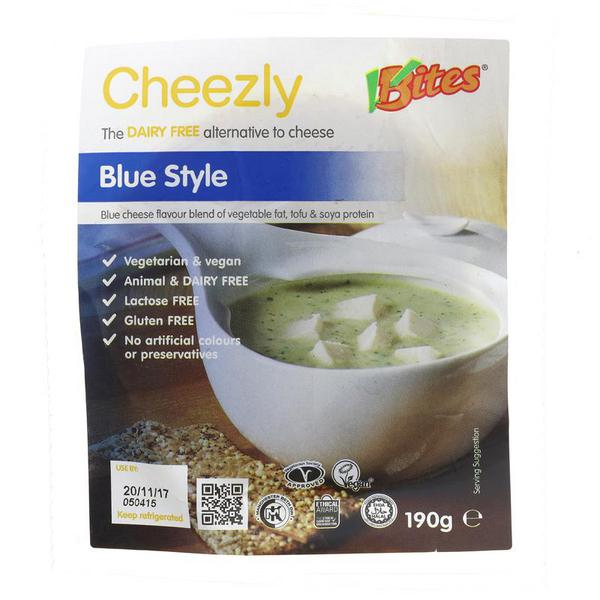 Blue Style Dairy Free Cheese Cheezly dairy free, Vegan