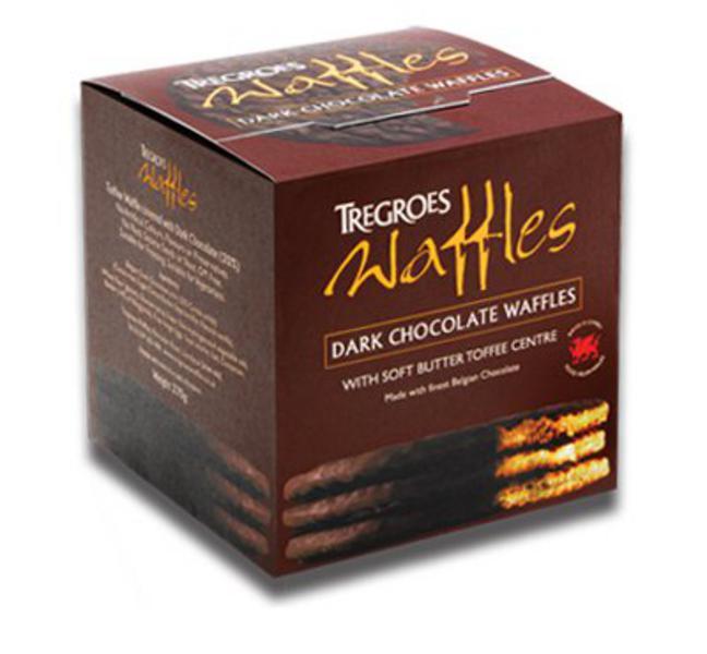 Dark Chocolate Coated Waffles