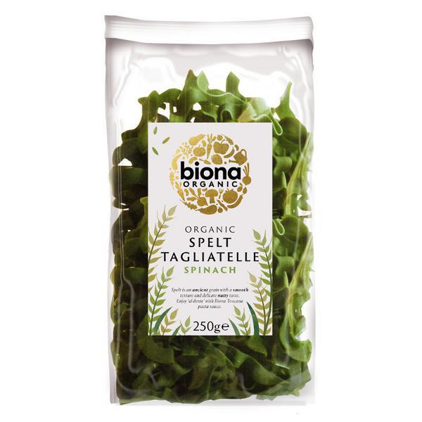 Artisan Rolled Spelt & Spinach Tagliatelle Pasta ORGANIC