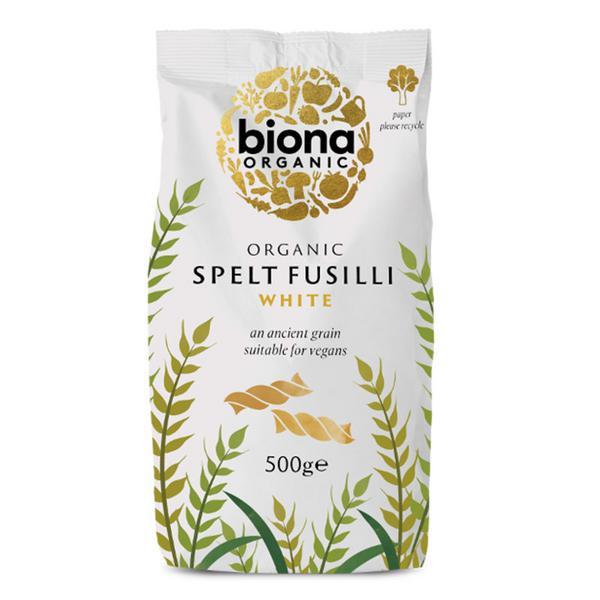 White Spelt Fusilli Pasta wheat free, ORGANIC