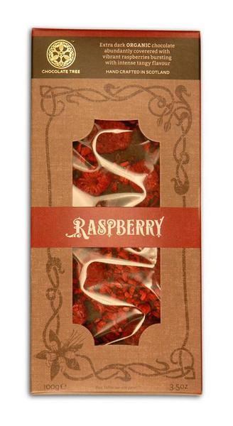 74% Raspberry Dark Chocolate dairy free, ORGANIC