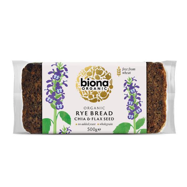 Chia & Flax Seed Rye Bread ORGANIC