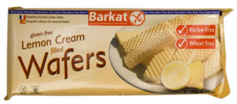 Lemon Cream Filled Wafers Gluten Free