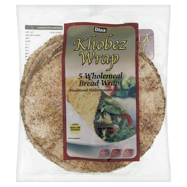 Dina Medium Wholemeal Khobez Wraps 5pack