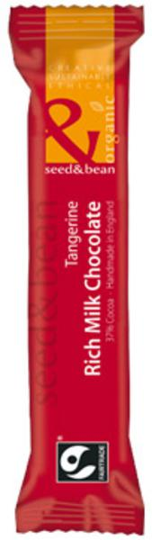 37% Milk Chocolate With Tangerine FairTrade, ORGANIC