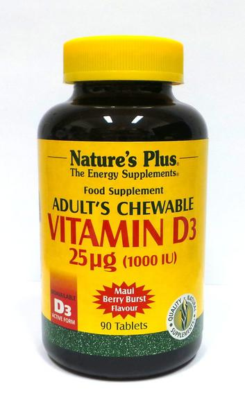 Vitamin D Berry Chewable 1000iu