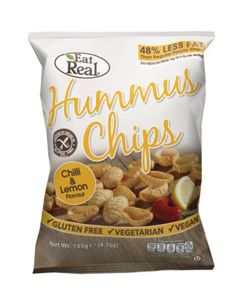 Chilli & Lemon Hummus Chips , wheat free