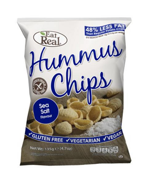 Sea Salted Hummus Chips No Gluten Containing Ingredients, wheat free