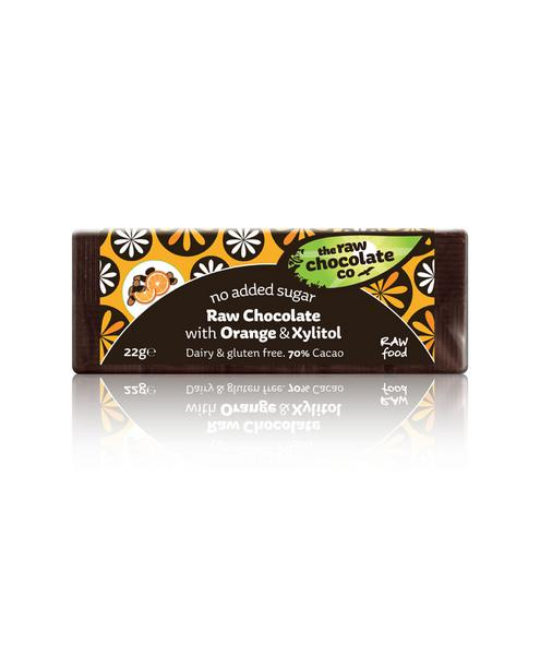 Orange & Xylitol Raw Chocolate No Gluten Containing Ingredients, Vegan