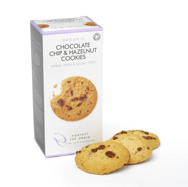 Chocolate Chip & Hazelnut Cookies dairy free, Gluten Free, ORGANIC