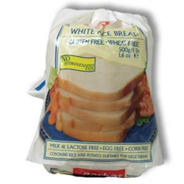 White Rice Bread Sliced dairy free, egg free, Gluten Free, wheat free