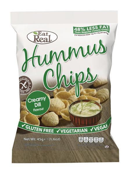 Creamy Dill Hummus Chips , wheat free