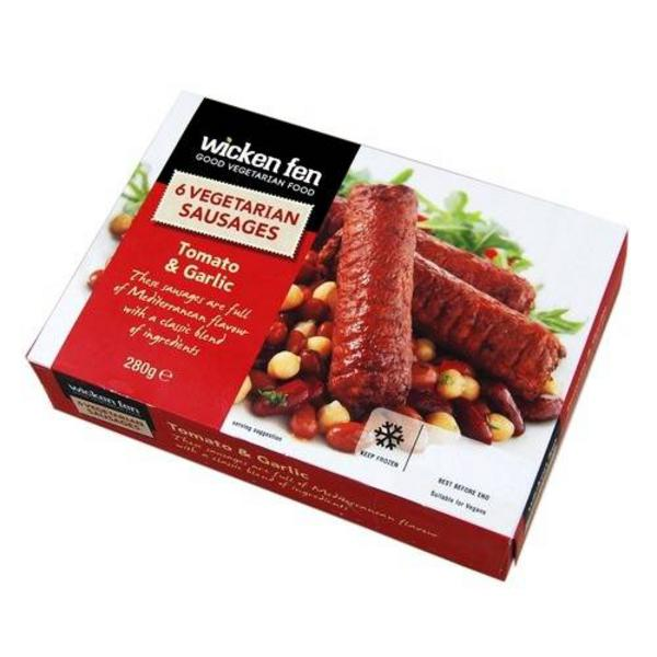 Tomato & Garlic Sausages Meat Substitute
