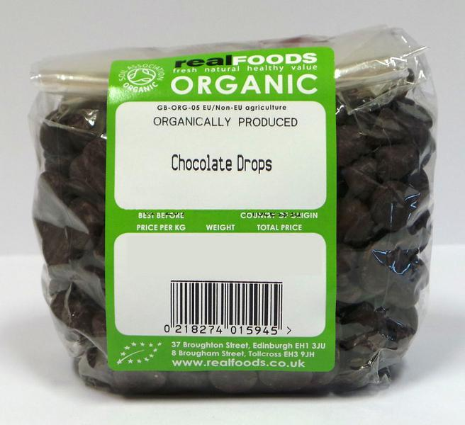 Chocolate Drops No Gluten Containing Ingredients, ORGANIC