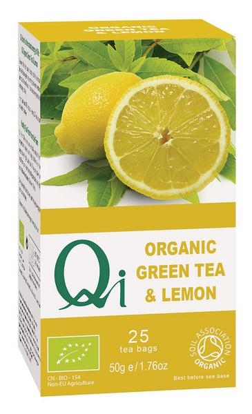Green Tea & Lemon T-Bags FairTrade, ORGANIC