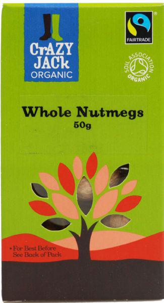 Nutmegs Whole FairTrade, ORGANIC