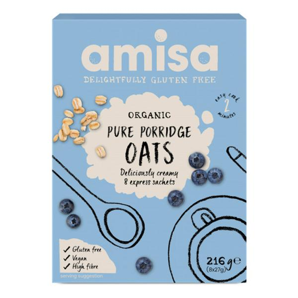 Porridge Oats Express Sachets Gluten Free, ORGANIC