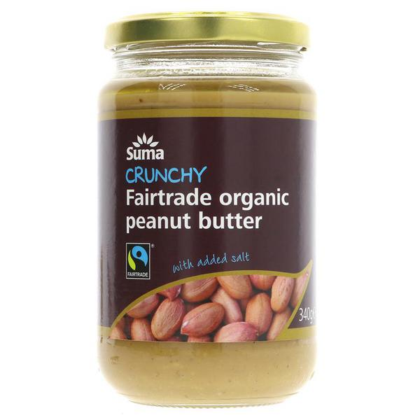 Crunchy Peanut Butter FairTrade, ORGANIC