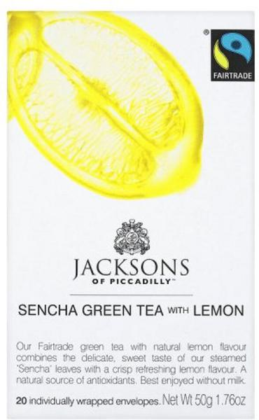 Sencha Green & Lemon T-Bags FairTrade