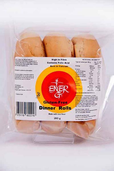 Ener G Foods Dinner Rolls dairy free, Gluten Free 280g