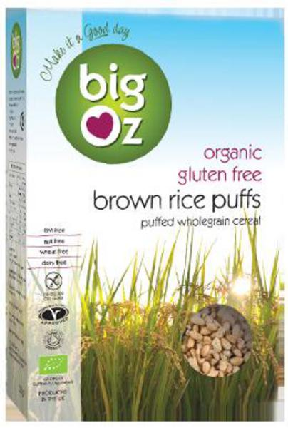 Brown Rice Puffs Gluten Free, ORGANIC
