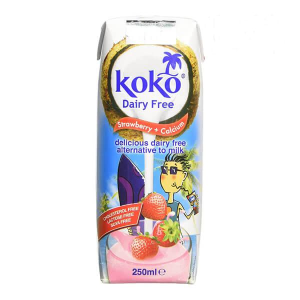 Coconut Milk,Strawberry & Calcium Drink dairy free